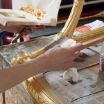 3 Gilding of a pair of Louis XV style arm chairs