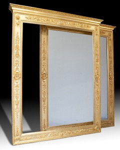 20 A pair of gilded pier mirrors