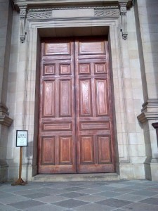 4. Brompton Oratory main doors prior to restoration
